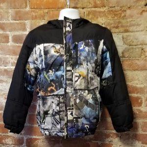 New Listing~Big Boy puffer  abstract coat